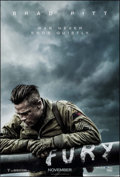 "Movie Posters:War, Fury (Sony, 2014). One Sheet (27"" X 40"") DS Advance. War.. ..."