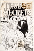 Original Comic Art:Covers, Vince Colletta True Secrets #39 Cover Original Art(Marvel/Atlas, 1956)....
