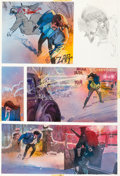 Original Comic Art:Panel Pages, Bill Sienkiewicz Elektra: Assassin #4 page 18 Original Art(Marvel, 1986)....