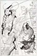 Original Comic Art:Covers, John Romita Jr. and Klaus Janson Avengers vs. X-Men #1Variant Cover Captain America and Wolverine Original Art (M...