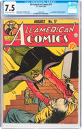 Golden Age (1938-1955):Superhero, All-American Comics #17 (DC, 1940) CGC VF- 7.5 Off-white to white pages....