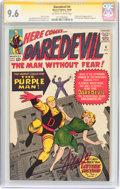 Silver Age (1956-1969):Superhero, Daredevil #4 Signature Series (Marvel, 1964) CGC NM+ 9.6 Off-whiteto white pages....