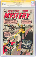 Silver Age (1956-1969):Superhero, Journey Into Mystery #88 Signature Series (Marvel, 1963) CGC NM 9.4Off-white to white pages....