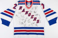 Autographs:Bats, 1993-94 New York Rangers Team Signed Game Issued Alex KovalevJersey - Stanley Cup Championship Season!...