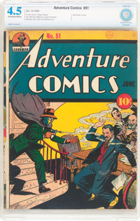 Adventure Comics #51 (DC, 1940) CBCS VG+ 4.5 Off-white to white pages