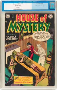 House of Mystery #2 Mile High Pedigree (DC, 1952) CGC VF/NM 9.0 White pages