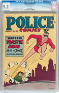 Golden Age (1938-1955):Superhero, Police Comics #38 Mile High Pedigree (Quality, 1945) CGC NM- 9.2 White pages....