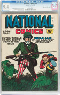 Golden Age (1938-1955):War, National Comics #31 Mile High Pedigree (Quality, 1943) CGC NM 9.4 White pages....