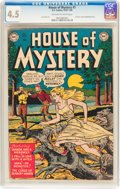 Golden Age (1938-1955):Horror, House of Mystery #1 (DC, 1952) CGC VG+ 4.5 Off-white to whitepages....