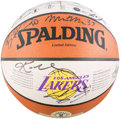 Basketball Collectibles:Balls, 2000-01 Los Angeles Lakers Team Signed Basketball - WorldChampionship Season....
