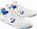 Basketball Collectibles:Others, Mark Aguirre Game Worn, Signed Shoes....