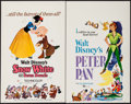 "Movie Posters:Animation, Snow White and the Seven Dwarfs & Other Lot (Buena Vista, R-1967). Window Cards (2) (14"" X 22""). Animation.. ... (Total: 2 Items)"