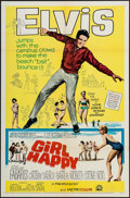 "Movie Posters:Elvis Presley, Girl Happy (MGM, 1965). One Sheet (27"" X 41"") & Uncut Pressbook(12.25"" X 17""). Elvis Presley.. ... (Total: 2 Items)"