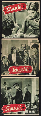 """Shoe Shine & Other Lot (ENIC, 1946). Trimmed Italian Photobustas (3) (Approx. 12.75"""" X 13"""") & French S..."""