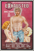 """Movie Posters:Adult, Exhausted: John C. Holmes, the Real Story (Annazan, 1981). One Sheet (25"""" X 28""""). Adult.. ..."""