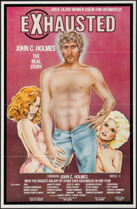 """Exhausted: John C. Holmes, the Real Story (Annazan, 1981). One Sheet (25"""" X 28""""). Adult"""