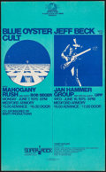 Movie Posters:Rock and Roll, Blue Oyster Cult with Mahogany Rush/Jeff Beck with the Jan HammerGroup at Medford Armory Combo (Albatross, 1976). Concert W...