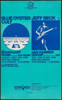 Blue Oyster Cult with Mahogany Rush/Jeff Beck with the Jan Hammer Group at Medford Armory Combo (Albatross, 1976). Conce...