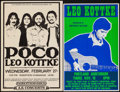 "Movie Posters:Rock and Roll, Poco and Leo Kottke at the Robertson Gymnasium & Other Lot(A.S. Concerts and Pacific Presentations, 1974). Window Card(14""... (Total: 2 Items)"