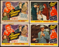 "The Crimson Ghost (Republic, 1946). Lobby Card Set of 8 & Title Lobby Card (11"" X 14"") Chapter 1 --&qu..."