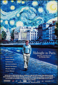 """Midnight in Paris (Sony Pictures Classics, 2011). One Sheet (27"""" X 40"""") DS. Comedy"""
