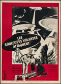 "Movie Posters:Science Fiction, Earth vs. the Flying Saucers (Columbia, 1956). French Affiche (23""X 31.5""). Science Fiction.. ..."