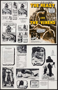 """The Beast and the Vixens & Other Lot (Sophisticated Films, 1974). Pressbooks (50) (Multiple Pages, 11"""" X 17&quo..."""