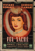 "Movie Posters:Foreign, Feu Sacre (Éclair-Journal, 1942). French Half Grande (31.5"" X 46""). Foreign.. ..."