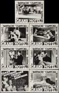 "Movie Posters:Academy Award Winners, Grand Hotel (MGM, R-1954). Title Lobby Card & Lobby Cards (6) (11"" X 14""). Academy Award Winners.. ... (Total: 7 Items)"
