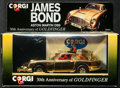 Movie Posters:James Bond, Goldfinger: Aston Martin DB5 (Corgi, 1992). Numbered LimitedEdition 30th Anniversary Gold Plated 1:36 Die-Cast Car in Origi...