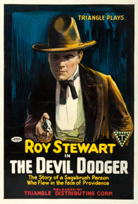 """The Devil Dodger (Triangle, 1917). One Sheet (27.5"""" X 40"""")"""