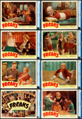 "Movie Posters:Horror, Freaks (Excelsior, R-1949). CGC Graded Lobby Card Set of 8 (11"" X14"").. ... (Total: 8 Items)"