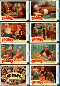 """Freaks (Excelsior, R-1949). CGC Graded Lobby Card Set of 8 (11"""" X 14""""). ... (Total: 8 Items)"""