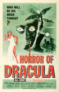 "Movie Posters:Horror, Horror of Dracula (Universal International, 1958). Christopher LeeAutographed One Sheet (27"" X 41"") Green Style.. ..."