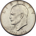 Eisenhower Dollars, 1976-D $1 Type Two -- Struck on a 40% Silver Planchet -- AU55 PCGS....