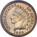 Indian Cents, 1864 1C Copper-Nickel, Die Lines at Ear, Snow-5, FS-401, MS66 PCGS Secure....