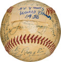 Baseball Collectibles:Balls, 1950 New York Yankees Team Signed Baseball from The Gene WoodlingCollection. ...