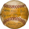 Baseball Collectibles:Balls, 1951 Gene Woodling World Series Home Run Baseball from The GeneWoodling Collection. ...
