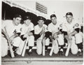 Baseball Collectibles:Photos, 1952 New York Yankees Multi-Signed Photograph with Mantle from TheGene Woodling Collection. ...