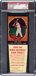 Baseball Cards:Singles (1950-1959), 1958 Hires Root Beer Willie Mays (With Tab) PSA Mint 9 - Pop Three,None Higher....
