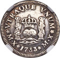 Mexico, Mexico: Philip V 1/2 Real 1733/2 MX-MF VF Details (Mount Removed)NGC,...