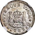 Mexico, Mexico: Philip V 1/2 Real Pair,... (Total: 2 coins)