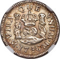 Mexico, Mexico: Philip V 1/2 Real 1746 Mo-M UNC Details (Surface Hairlines)NGC,...