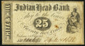 Obsoletes By State:New Hampshire, Nashua, NH- White & Hill at Indian Head Bank 25? Oct. 1, 1862...