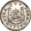 Mexico, Mexico: Philip V Real 1744/3 Mo-M AU Details (Surface Hairlines)NGC,...