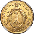 Switzerland: Basel. City gold Duplone 1795 MS64 NGC