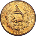 Guatemala: Republic gold 20 Quetzales 1926 MS62 NGC,