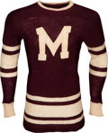 Hockey Collectibles:Uniforms, Mid-1930's Russ Blinco Game Worn Montreal Maroons Jersey....