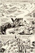 Original Comic Art:Panel Pages, Jack Kirby and Joe Sinnott The Silver Surfer Graphic NovelStory Page 16 Original Art (Simon and Schuster/Marvel, ...