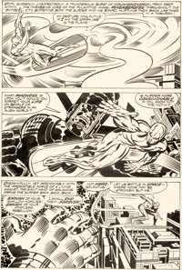 Jack Kirby and Joe Sinnott The Silver Surfer Graphic Novel Story Page 16 Original Art (Simon and Schuster/Marvel